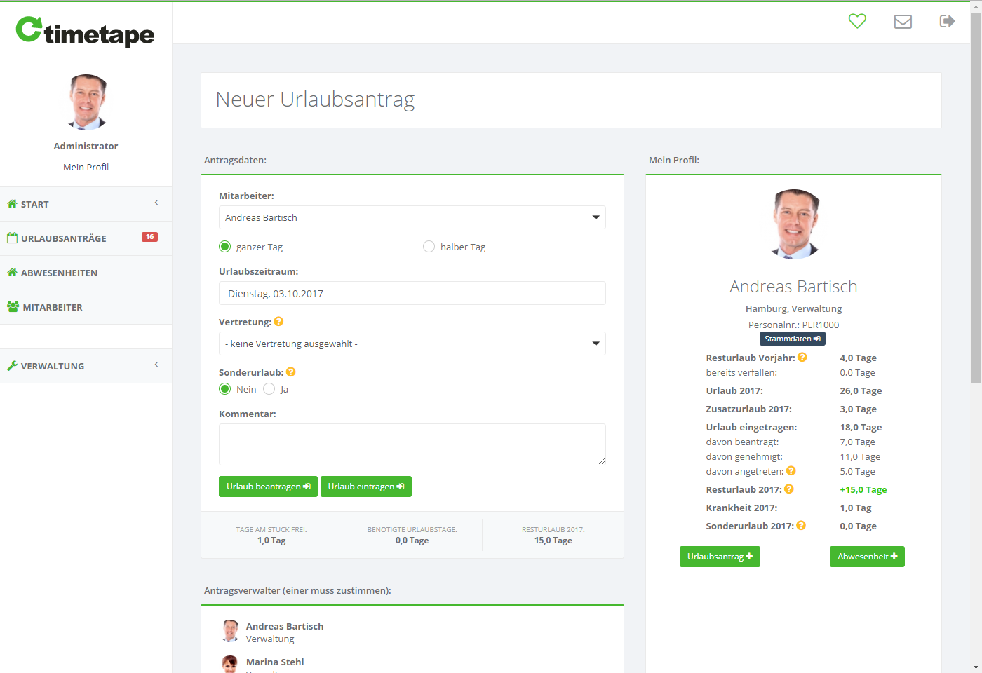 timetape – Online-Urlaubsplaner & Urlaubsverwaltung für Unternehmen